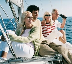 Couples enjoying sailing
